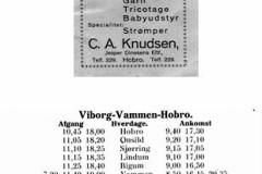 Køreplan Rødding 1933
