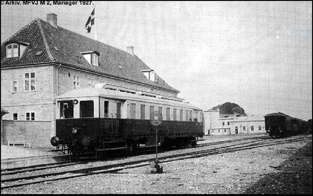 Det første tog på Viborg-Fårup-Mariager banen